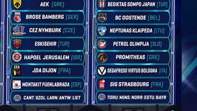 Unibo Calendario.Virtus Bologna Ecco Il Calendario Della Champions League