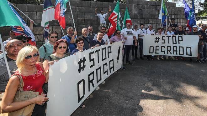 La manifestazione antidgrado al parco della Resistenza (fotoPrint)