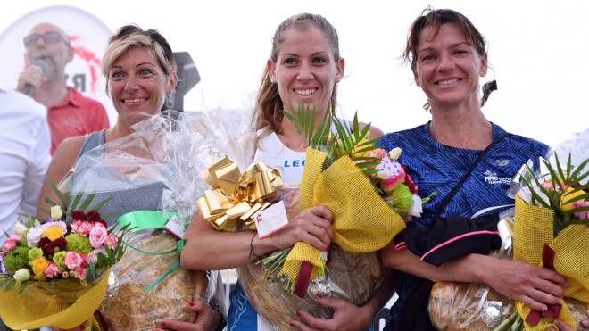 Il podio femminile: ha vinto Judit Varga (Ph. Ottavio Pamantini)