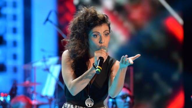 La vincitrice del  Festival  di Castrocaro  Valentina Egrotelli, in arte Maria, 23enne toscana
