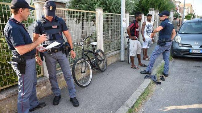 Polizia di Stato in via Oroboni