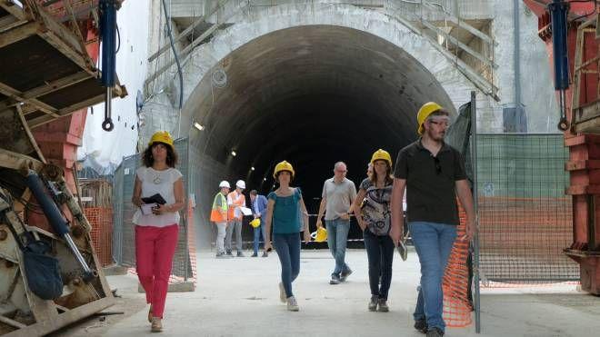 Il cantiere del metrò a Bettola