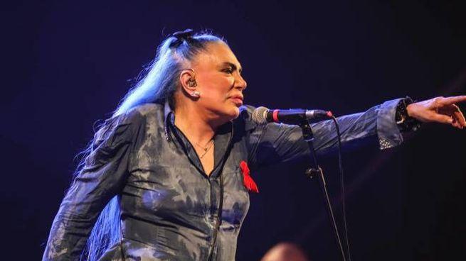 Loredana Berté sul palco (Andolfi)