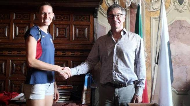 Elena Vallortigara incontra il sindaco di Siena De Mossi
