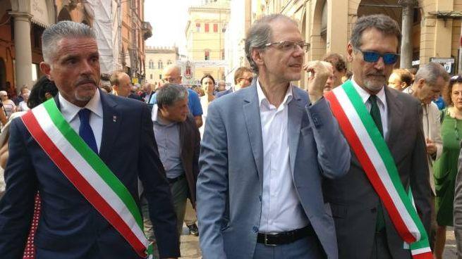 Il sindaco Lucchi alla commemorazione di Bologna