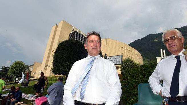 Roberto Salmoiraghi davanti al casinò