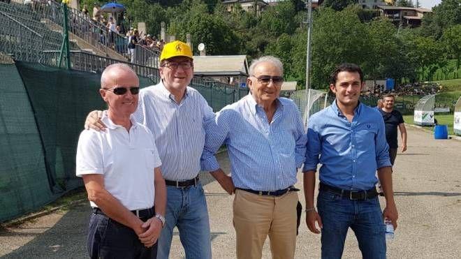 Doriano Tosi, Giancarlo Muzzarelli, Romano Sghedoni e Stefano Muzzarelli (foto Mattioli)