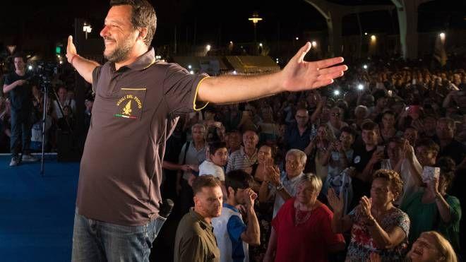 Matteo Salvini a Cervia (foto Zani)