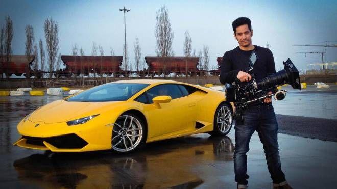 Matteo Tondini della Miracle video agency, che domani girerà gli spot della Lamborghini a Santarcangelo