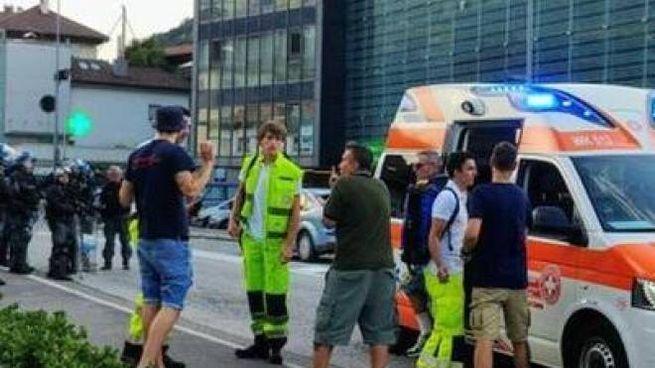 I soccorritori sul posto