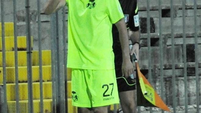 Salvatore Papa, autore del gol partita contro il Rimini