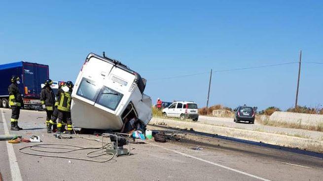 Incidente nel Foggiano (Ansa)
