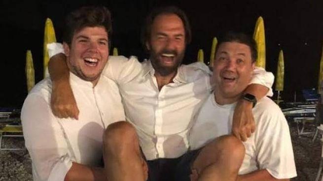 L'attore Neri Marcorè insieme al ristoratore Marcello Nicolini