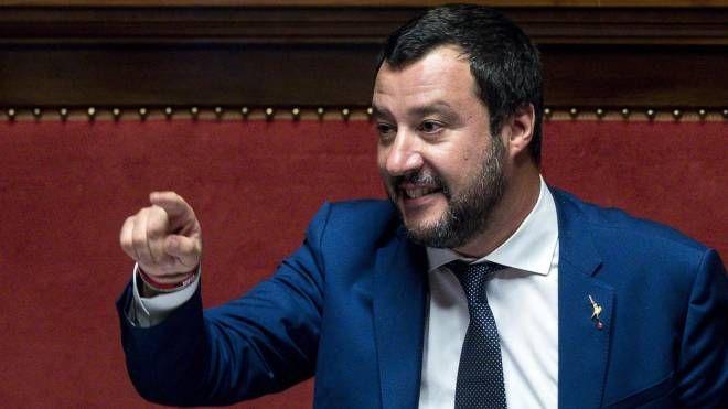 Il ministro dell'Interno e vicepremier Matteo Salvini (Ansa)
