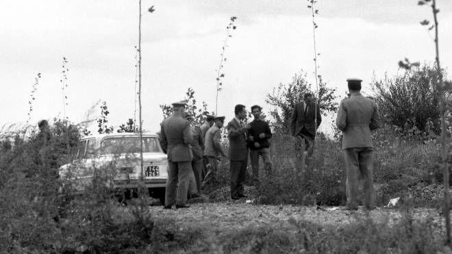 Un'immagini del delitto di Signa del 1968 (Archivio New Press Photo)