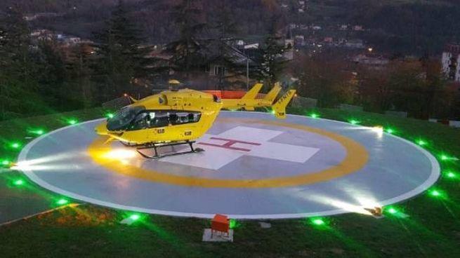 L'inconfondibile elicottero giallo del 118