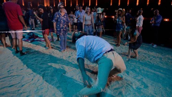 Un momento del party sul palco dello Sferisterio (foto Pierpaolo Calavita)