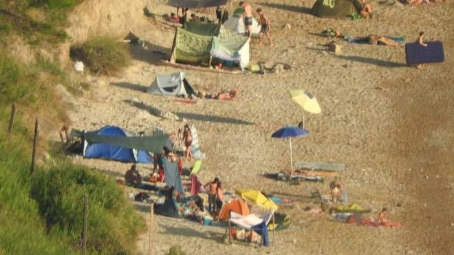 I campeggiatori a Mezzavalle alle prime luci di domenica
