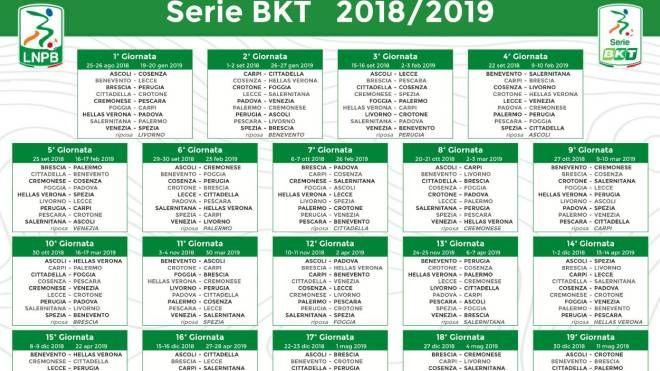 Calendario Lega Pro Foggia.Calendario Serie B 2018 2019 Tutte Le Giornate Sport