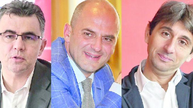 Da sinistra Vescovi (Lega), Mugnai (Forza Italia), Donzelli (FDI)