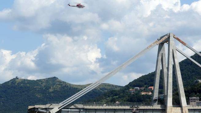 Uno strallo del ponte Morandi
