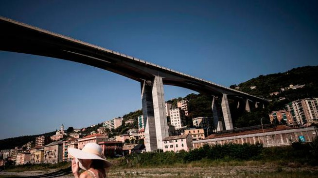 Il ponte Morandi di Genova (LaPresse)