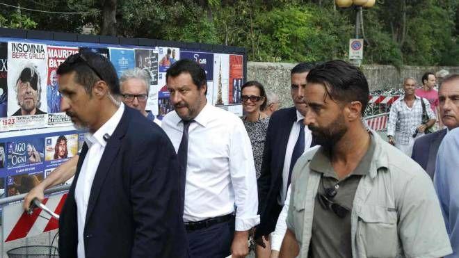 Matteo Salvini al suo arrivo alla Versiliana (foto Umicini)