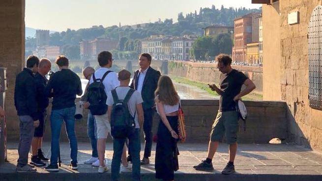 Iniziate le riprese del docufilm su Firenze con Matteo Renzi (New Press Photo)