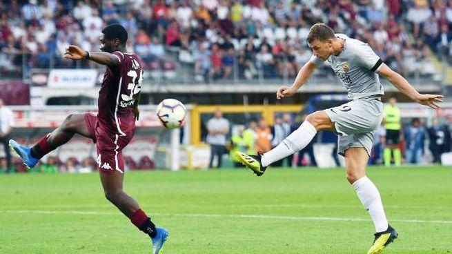 Il gol di Dzeko (Ansa)