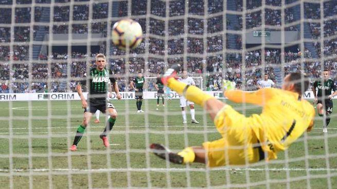 Sassuolo-Inter, il gol di Berardi (Lapresse)