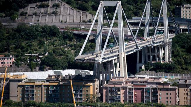 Ponte Morandi, Genova (Lapresse)