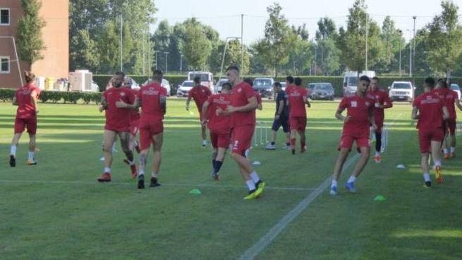 La squadra grigiorossa continua la preparazione in vista dell'esordio in Campionato
