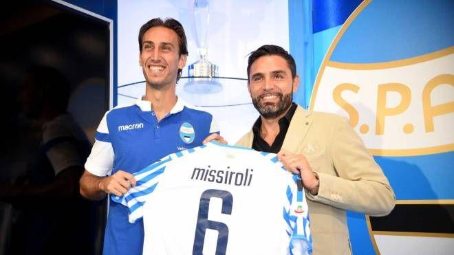 Simone Missiroli e il ds Davide Vagnati (foto Businesspress)