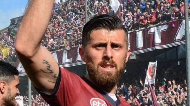 L'ex Livorno Michele Franco quando giocava nella Salernitana