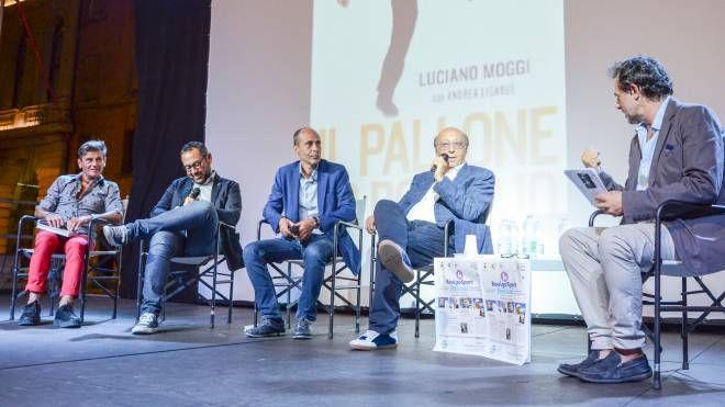 Luciano Moggi con Paolo De Grandis ed i giornalisti  Mario Bovenzi, Franco Pavan e Luca Crepaldi