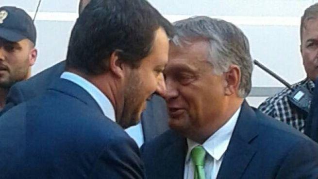 Matteo Salvini incontra Viktor Orban (Omnimilano)