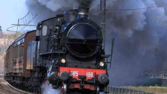 Lo storico treno a vapore