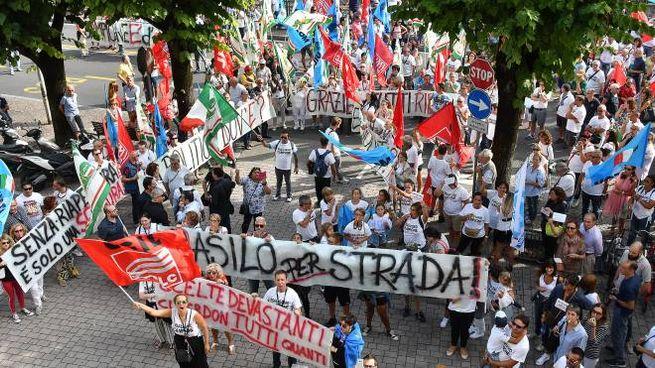 La manifestazione in città