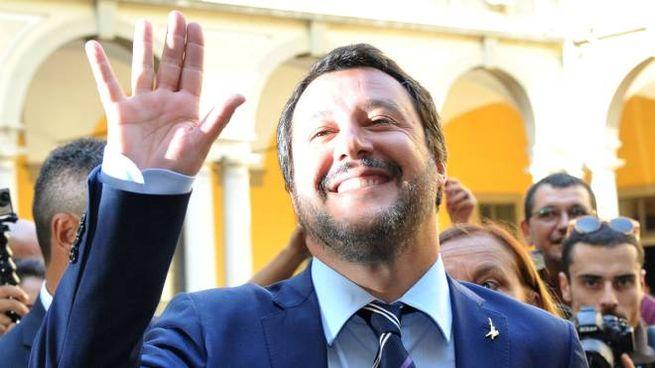 Il leader della Lega Matteo Salvini ricopre l'incarico di ministro dell'Interno