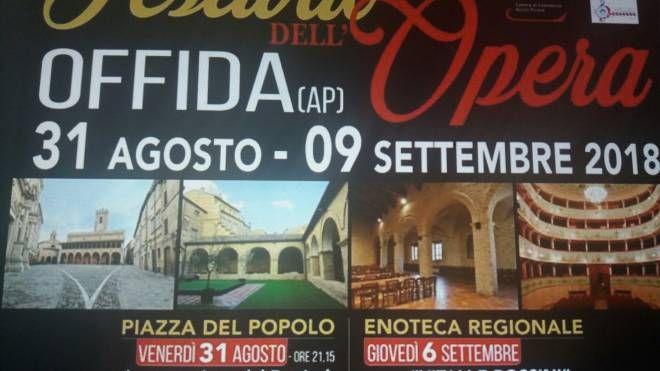 Il Festival dell'Opera di Offida si svolgerà dal 31 agosto al 9 settembre