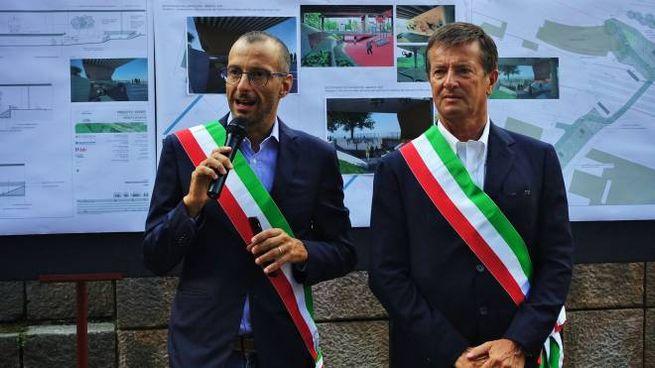 Matteo Ricci insieme a Giorgio Gori
