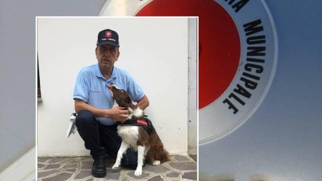 Piper, il cane antidroga della polizia municipale di Firenze
