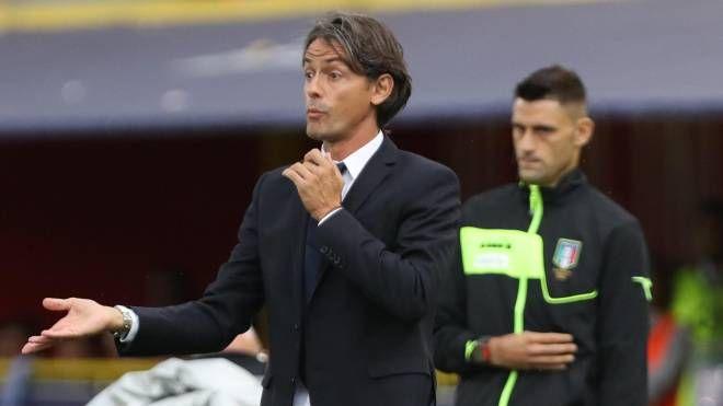 Inzaghi durante Bologna-Inter (Ansa)