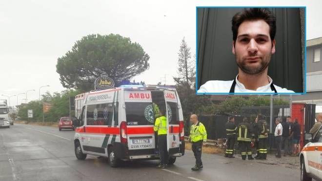 Incidente mortale a Lallio, nel riquadro la vittima Giovanni Scanzi