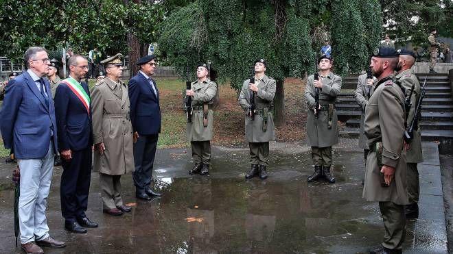 La cerimonia di commemorazione della liberazione