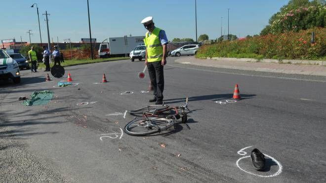 Polizia locale sul luogo dell'incidente