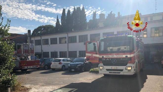 I vigili del fuoco a Empoli