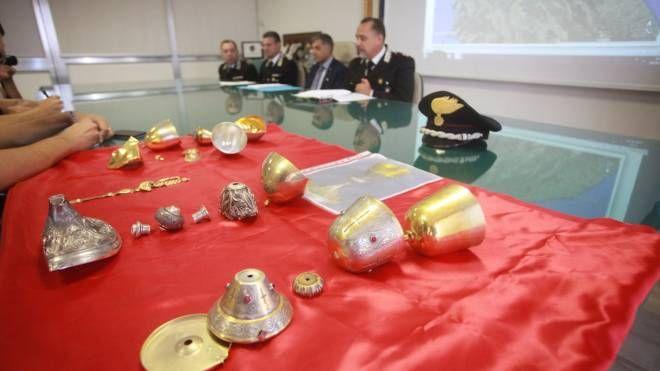 La conferenza stampa dei carabinieri (foto Antic)