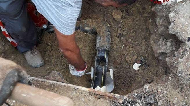 Il tubo danneggiato
