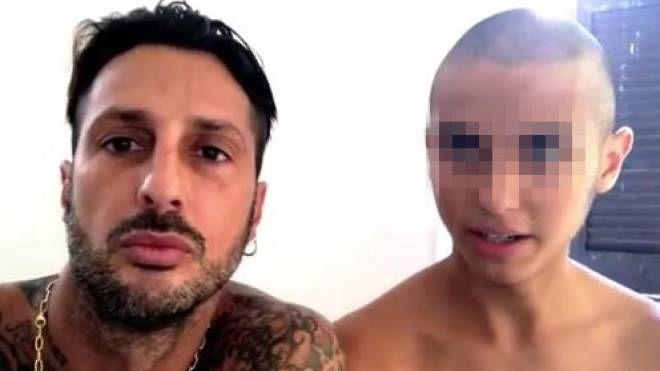 Fabrizio Corona e il figlio Carlos Maria